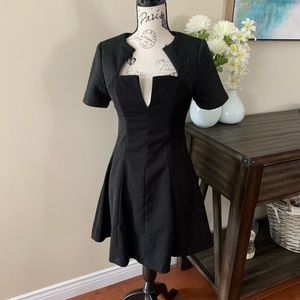 """Lulu's """"Shoulder to the Wow"""" Black Quilted Dress"""